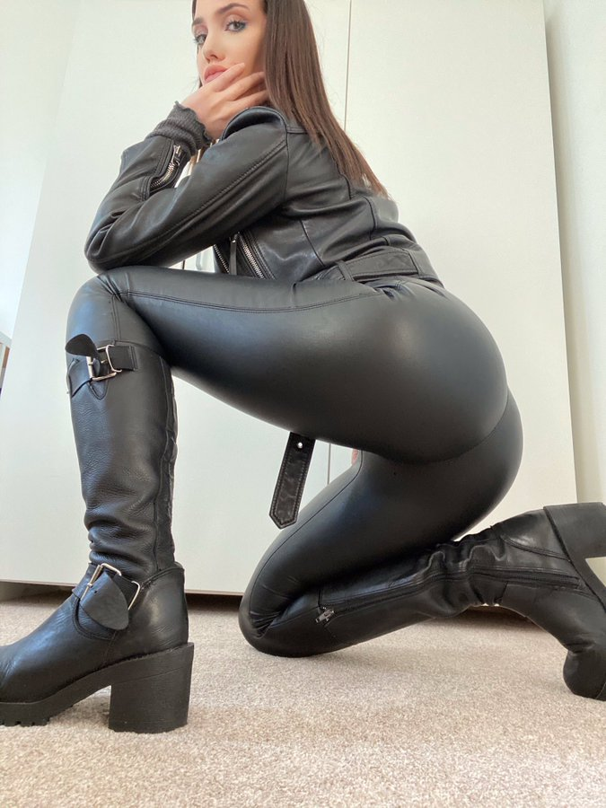 Leather Biker Girl